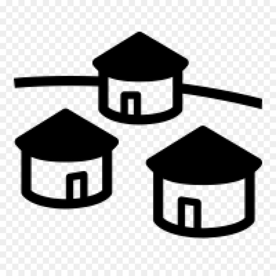Village symbol clipart png black and white download Black Line Background clipart - Black, Line, Product ... png black and white download