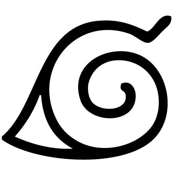 Village symbol clipart jpg black and white library Konoha Hidden Leaf Swirl Village Symbol Naruto by ... jpg black and white library