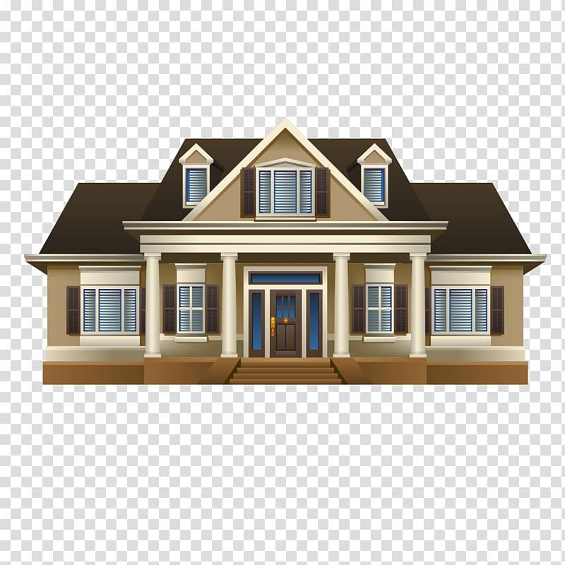 Villas clipart jpg transparent download Brown and black house illustration, House Villa Drawing ... jpg transparent download