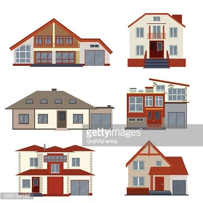 Villas clipart clip art download Set of Various Detailed Houses and Villas premium clipart ... clip art download