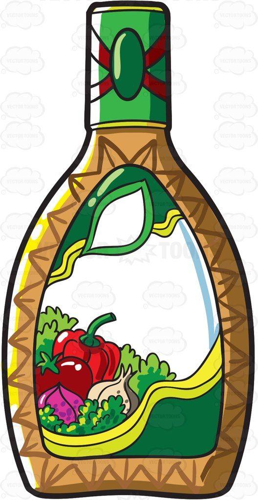 Vinaigrette dressing clipart banner stock A bottle of salad dressing #cartoon #clipart #vector ... banner stock