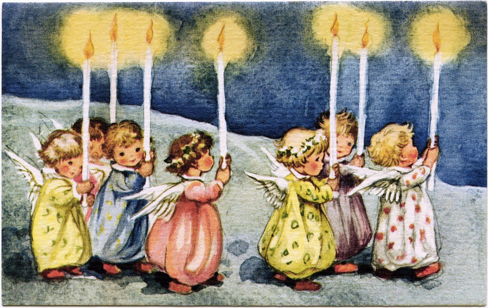 Vinatage angels with candle clipart clip transparent download vintage angel clipart, little angels with candles, old ... clip transparent download