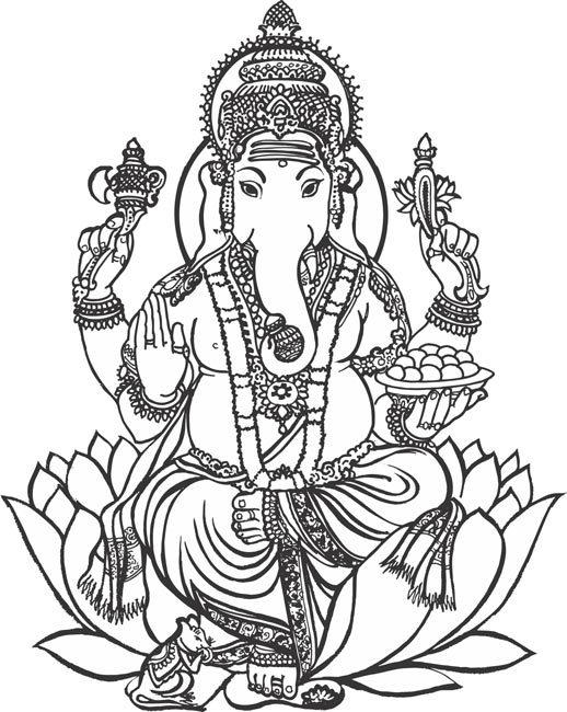 Vinayagar clipart black and white graphic black and white library Vinayagar god clipart 5 » Clipart Portal graphic black and white library