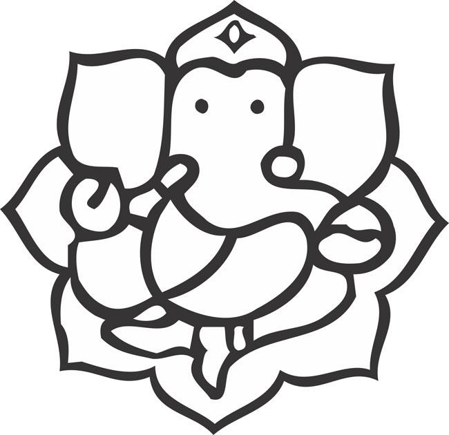 Vinayagar clipart black and white svg stock Vinayagar Logo - ClipArt Best svg stock