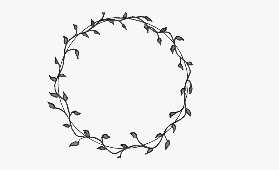 Vine circle border clipart clip freeuse library Drawn Vine Circular - Flower Circle Border Png Black And ... clip freeuse library