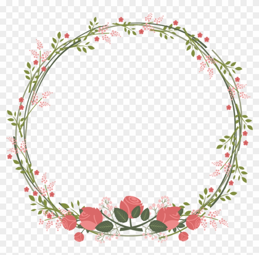 Vine circle border clipart picture black and white library border #frame #wreath #circle #round #leaves #vines - 初 十 ... picture black and white library