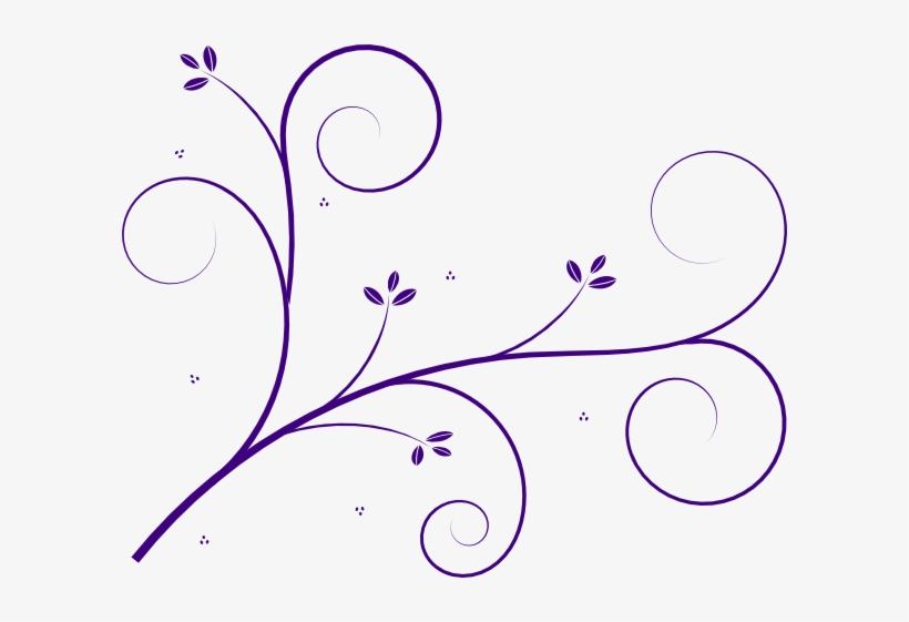 Vine flourish clipart clip transparent library 19 Purple Flourish Clip Art Black And White Download - Vine ... clip transparent library