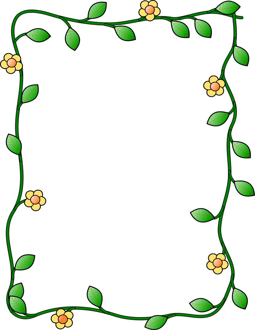 Vine frame clipart jpg royalty free library flower and vine frame vertical | Clipart Panda - Free ... jpg royalty free library