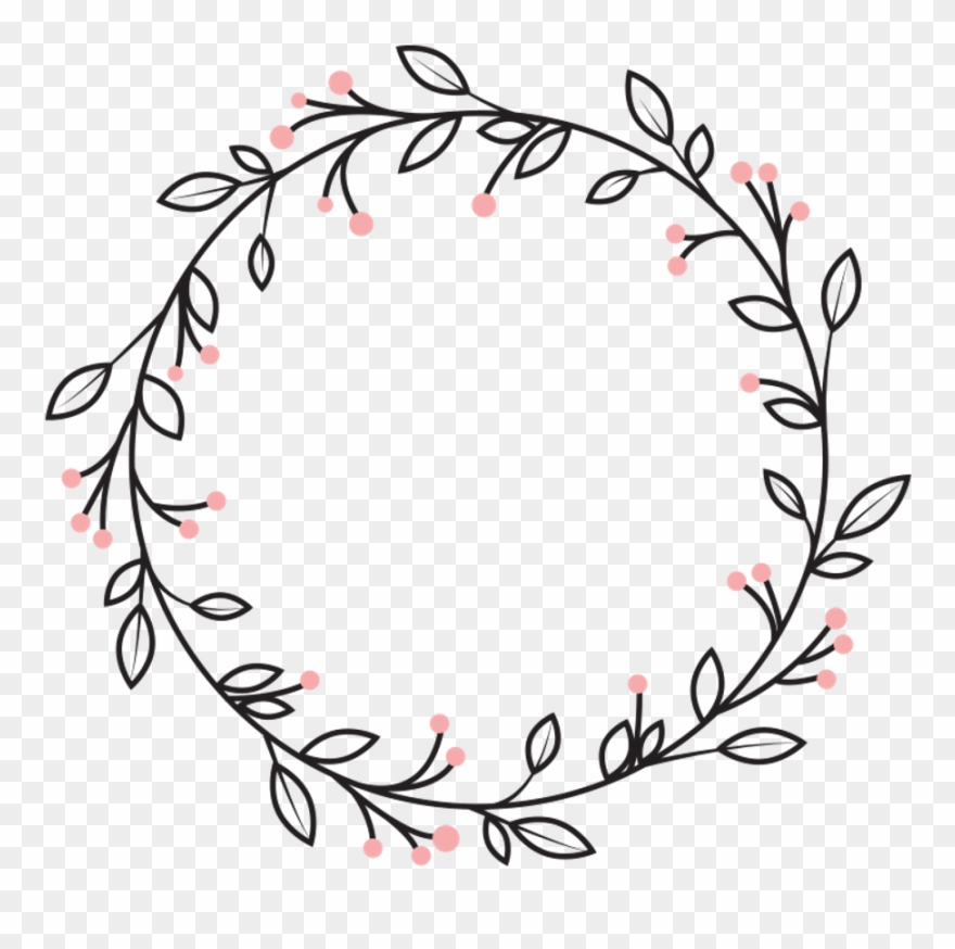 Vine in circle clipart clip freeuse stock Berries Leaves Vines Wreath Swirls Decoration Icon - Circle ... clip freeuse stock