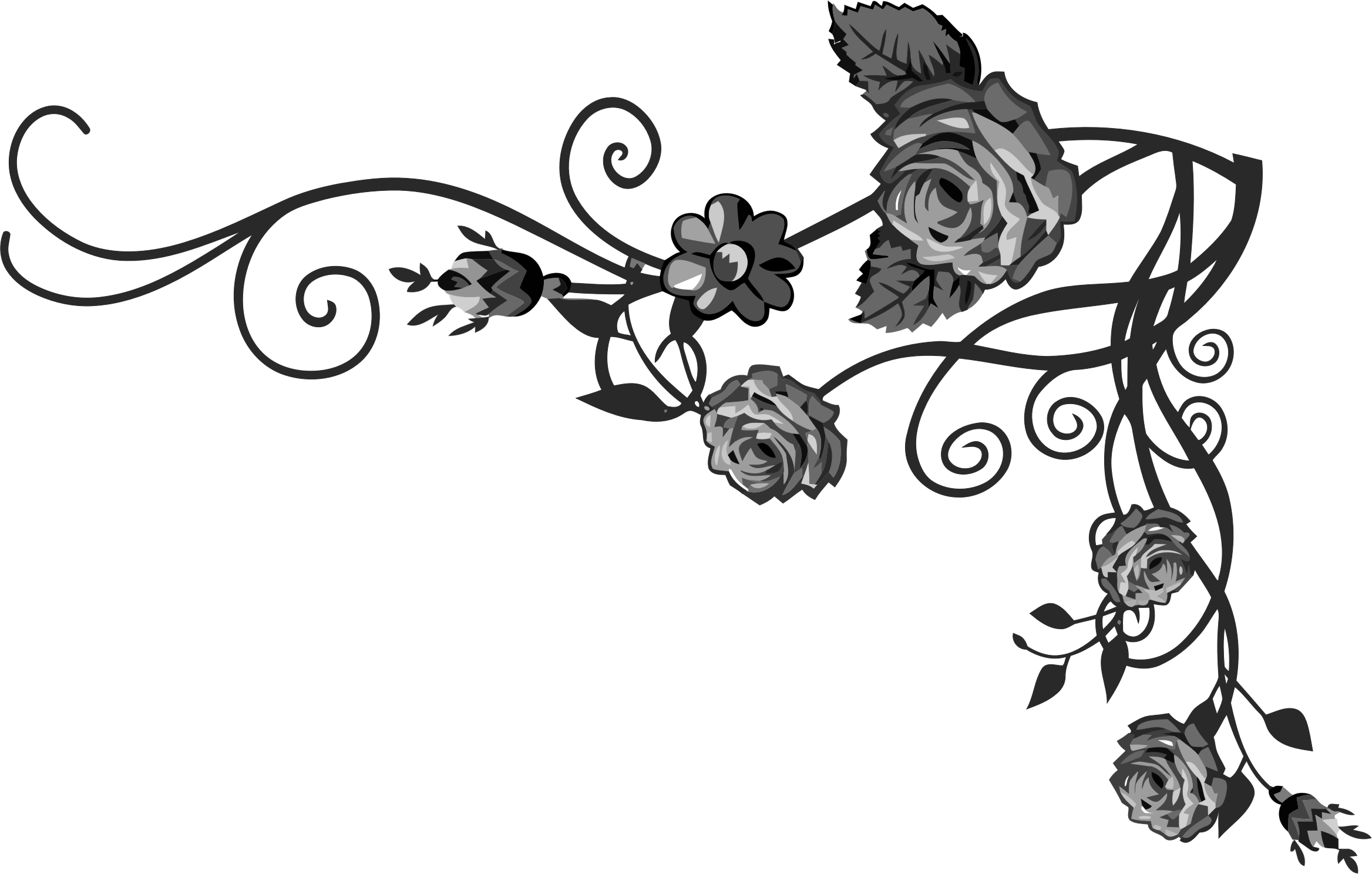 Vine pumpkin black white clipart clip royalty free library Vine Clipart Black Rose Free collection | Download and share Vine ... clip royalty free library