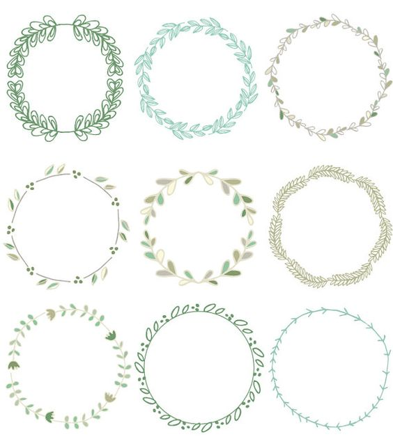 Vine wreath clipart jpg clip black and white Vine wreath clipart jpg recolor - ClipartFest clip black and white