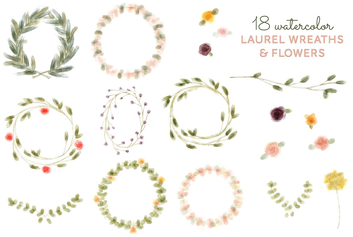 Vine wreath clipart jpg clip freeuse Vine wreath Photos, Graphics, Fonts, Themes, Templates ~ Creative ... clip freeuse