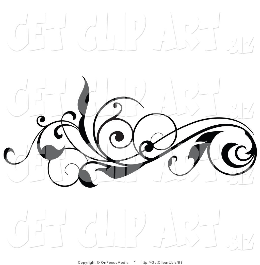 Vines and scrolls clipart clip art black and white Free Free Horizontal Vine Clipart, Download Free Clip Art ... clip art black and white