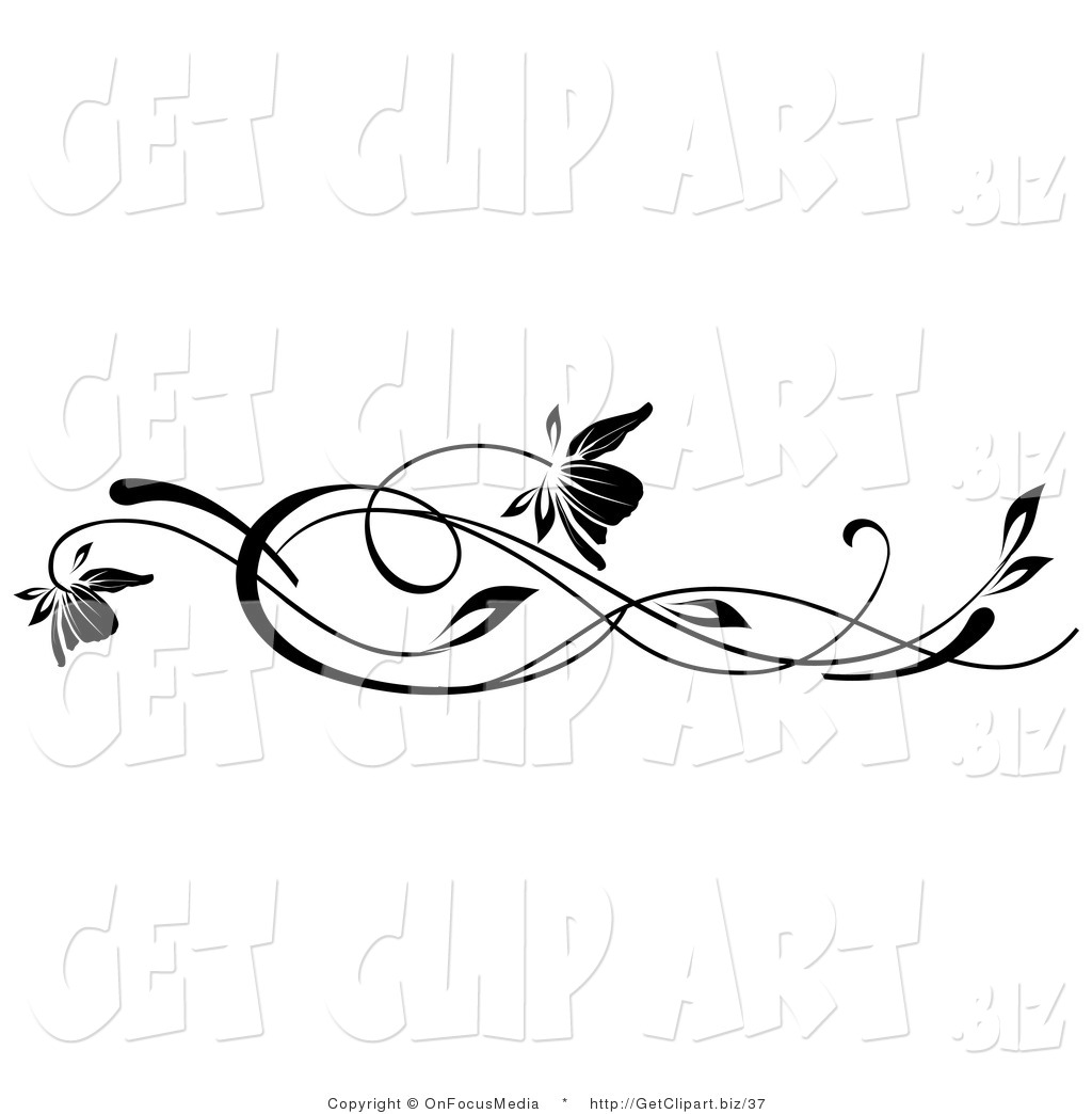 Vines and scrolls clipart banner library stock Free Free Horizontal Vine Clipart, Download Free Clip Art ... banner library stock