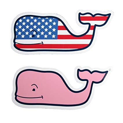 Vineyard vines clipart picture black and white library Vineyard Vines New LOT of 2 Whale Sticker 4.5\