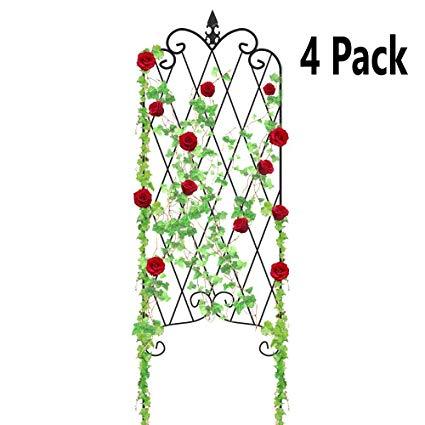 Vining flowers clipart jpg transparent stock Amagabeli 4 Pack Garden Trellis for Climbing Plants 47\