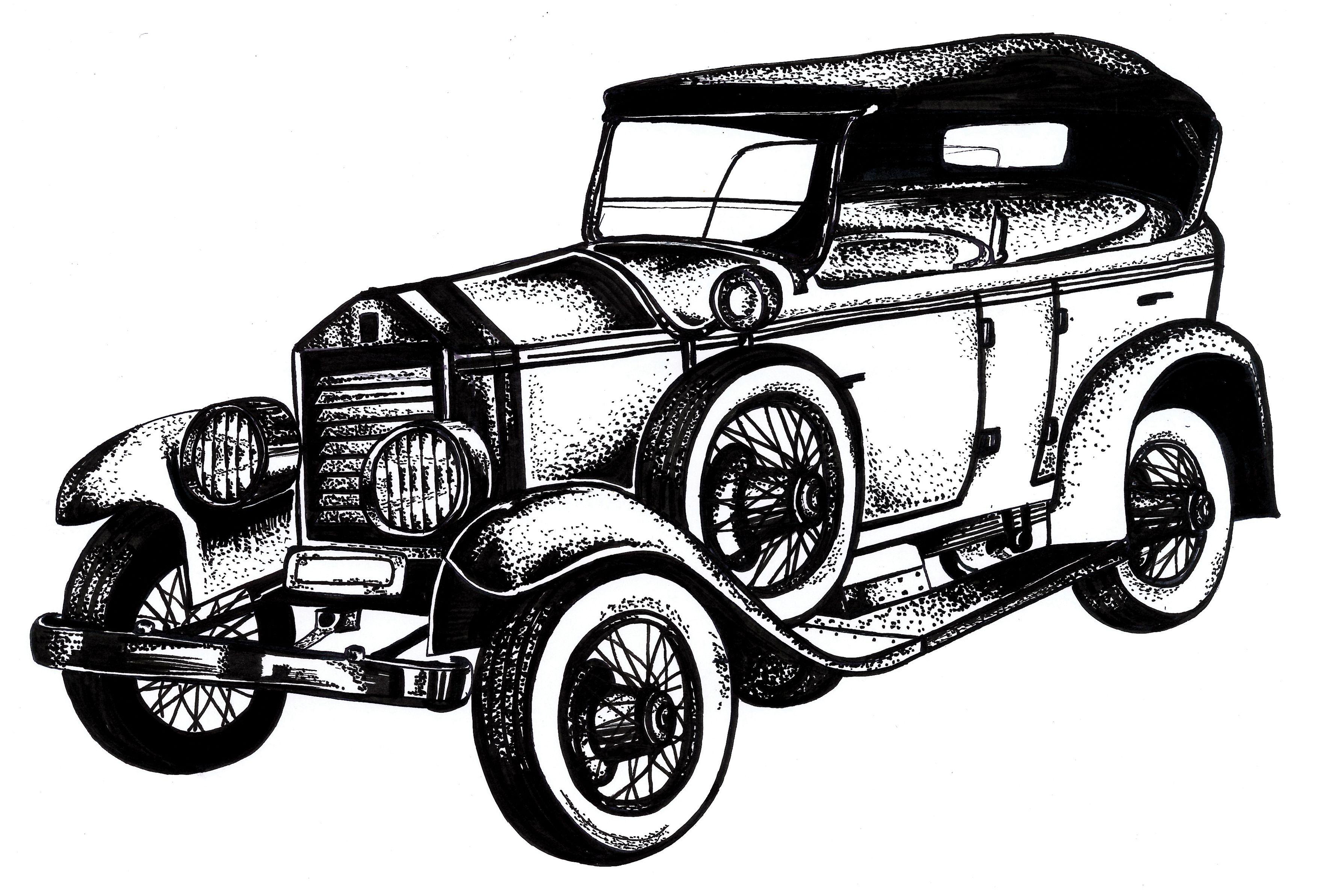 Vintag ecar clipart jpg freeuse download Classic Car Drawings Classic Car Clipart Oldies – Pencil And ... jpg freeuse download
