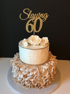 Vintage 3 tier 60 anniversary cake clipart png clip royalty free download 54 Best Mom\'s 60th images in 2018 | Cool wedding cakes, 40th ... clip royalty free download