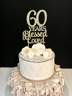 Vintage 3 tier 60 anniversary cake clipart png banner library 54 Best Mom\'s 60th images in 2018 | Cool wedding cakes, 40th ... banner library