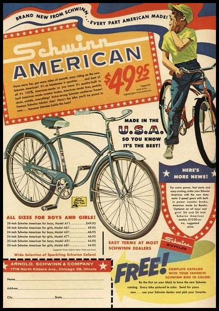Vintage 50s bicycle clipart banner free Elvis: A Man And His Bike   Elvis – Echoes Of The Past banner free