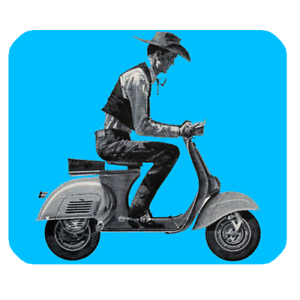 Vintage 50s bicycle clipart vector transparent download Details about Mouse Pad Retro Vintage Cowboy Motor Bike Moped Scooter Vespa  50s 60s Hat Rider vector transparent download