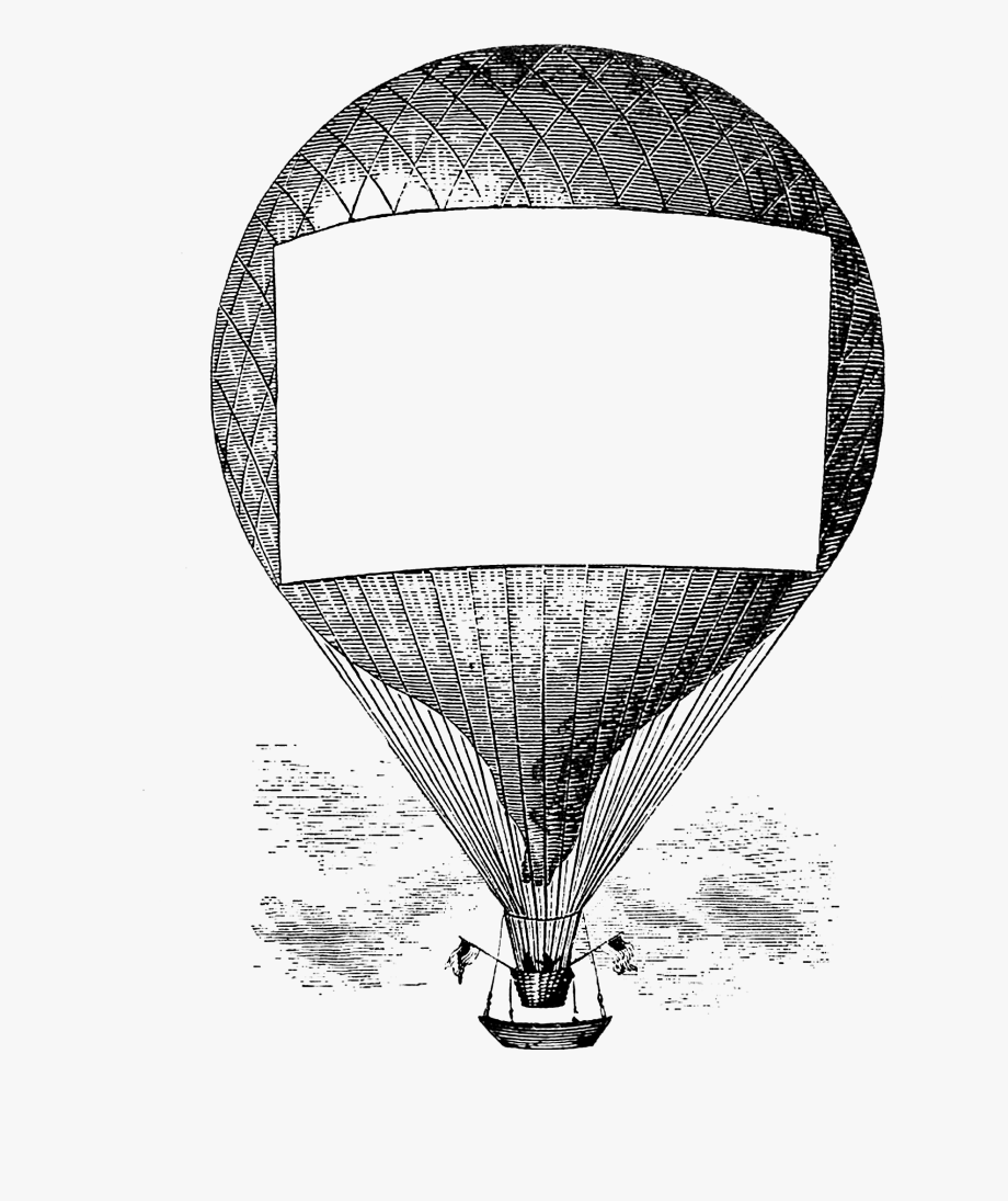 Vintage air balloon clipart free clipart black and white stock Free Vintage Clip Art - Hot Air Balloon #1841206 - Free ... clipart black and white stock