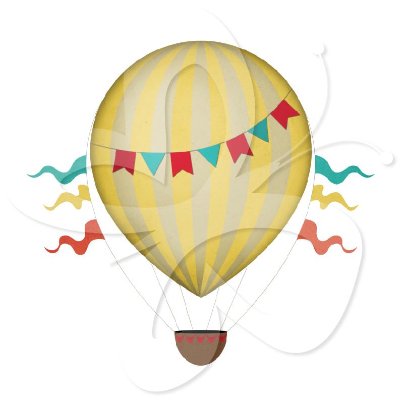Vintage air balloon clipart free clip art free library Vintage Hot Air Balloons Clip | Clipart Panda - Free Clipart ... clip art free library