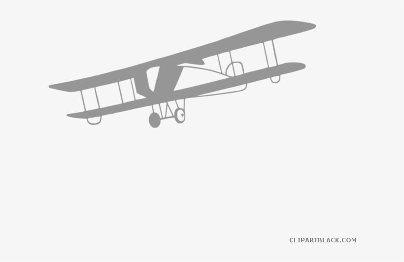 Vintage airplane clipart transparent picture black and white Vintage Airplane Clipart - Plane Clipart Transparent ... picture black and white