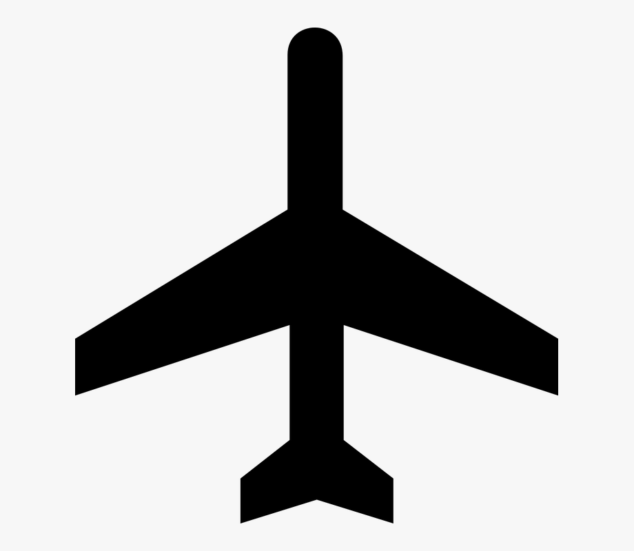 Vintage airport clipart transparent banner free download Image Of Airplane Clipart Black And White - Airport Map ... banner free download