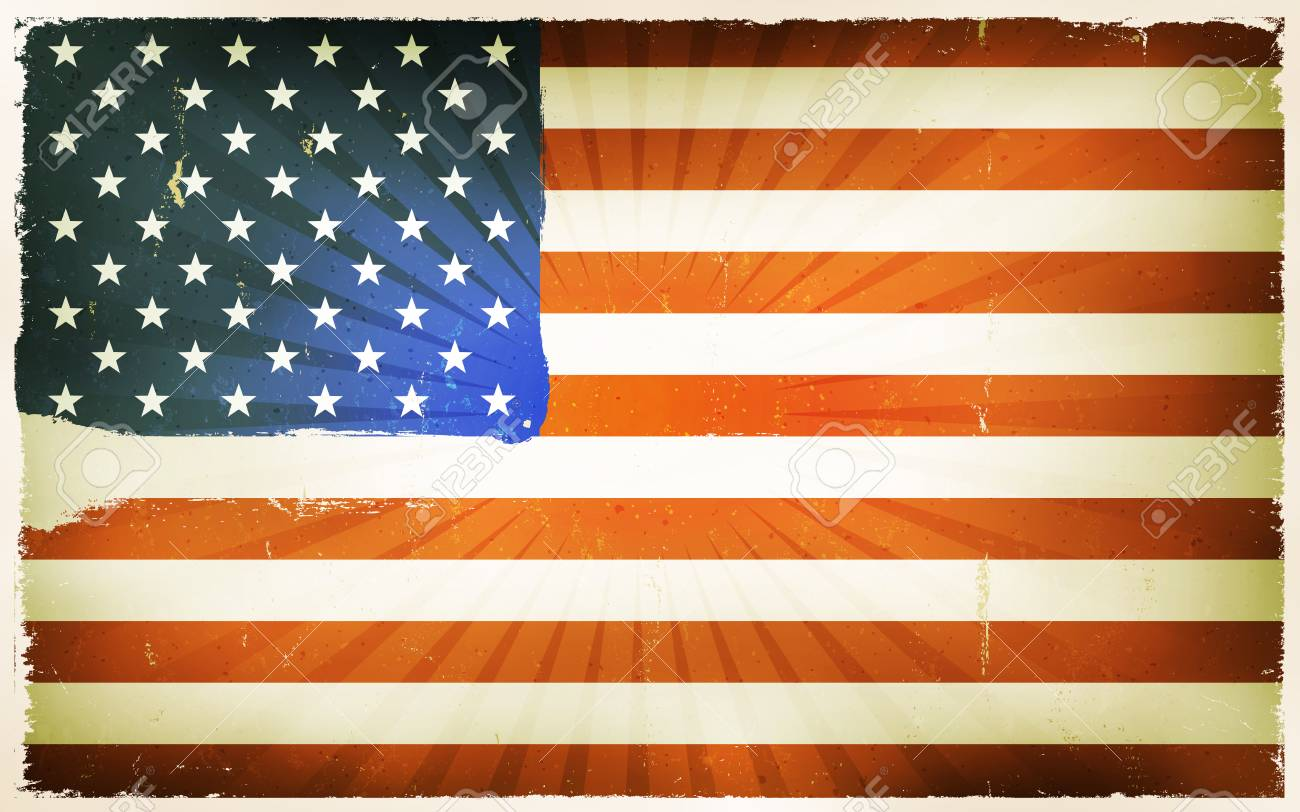 Vintage amerian flag clipart vector library stock Vintage American Flag Poster Background » Clipart Station vector library stock