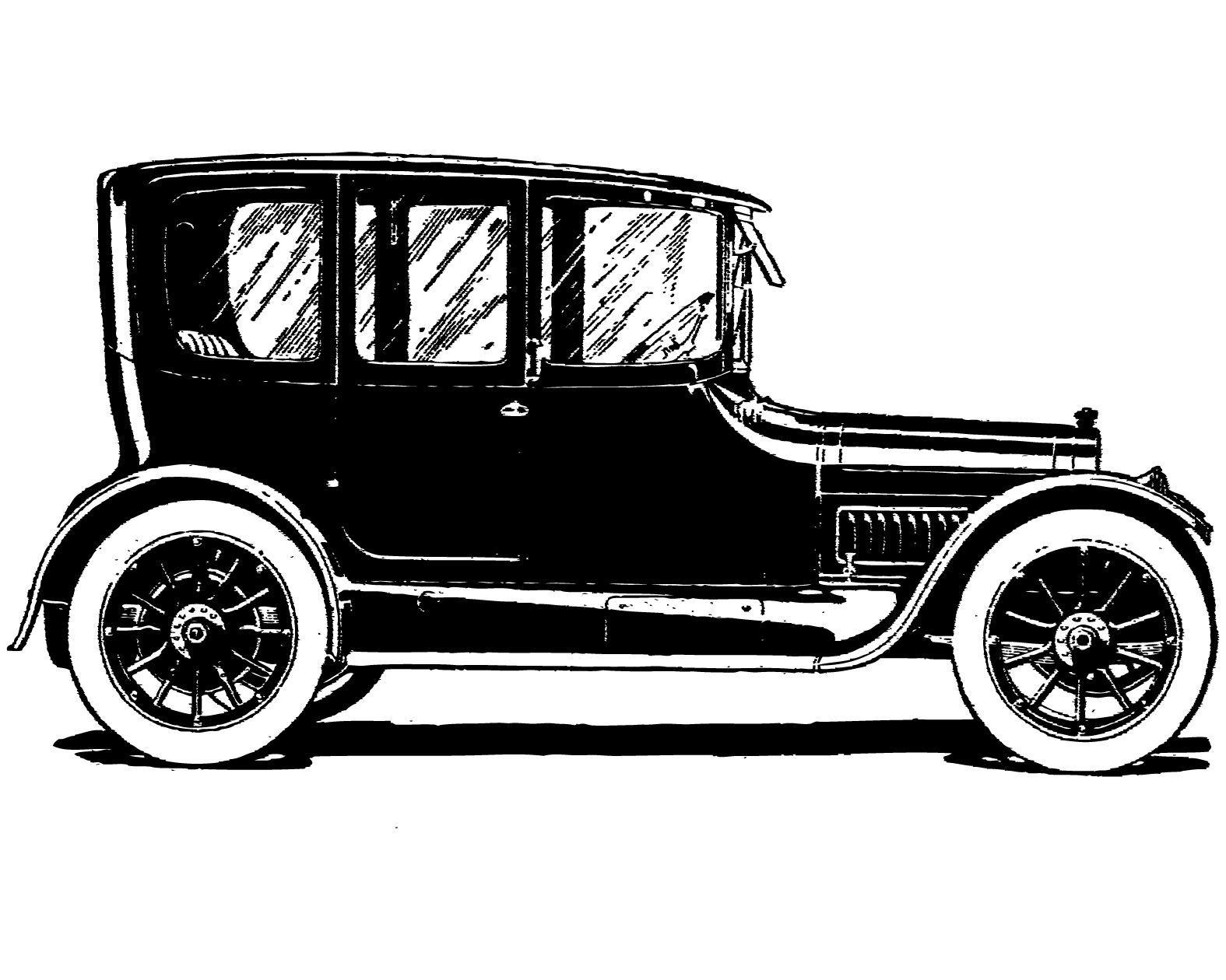 Vintage automotive clipart black and white Vintage car clipart free » Clipart Portal black and white