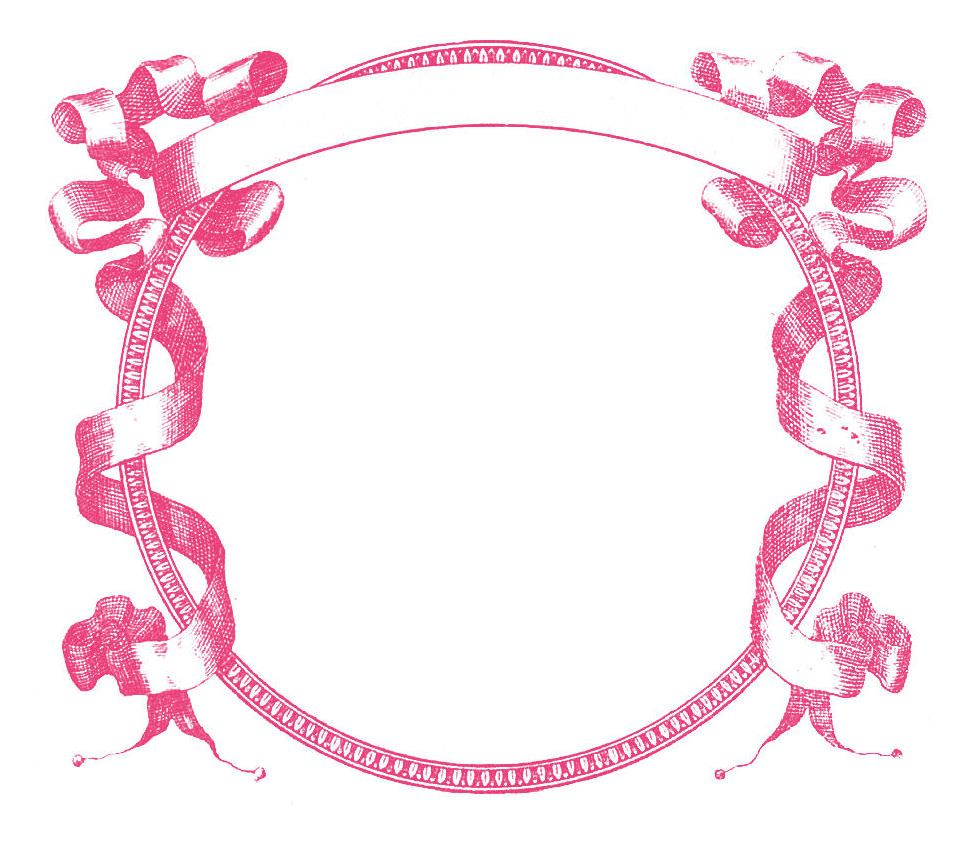 Vintage baby border clipart clipart transparent stock Pink Flower Border | Gorgeous Vintage Graphic Frame - Pink ... clipart transparent stock