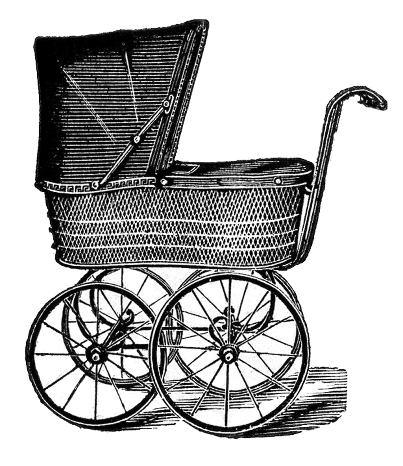 Vintage baby rattle clipart download Royalty Free Images - Vintage Baby Carriages - The Graphics ... download