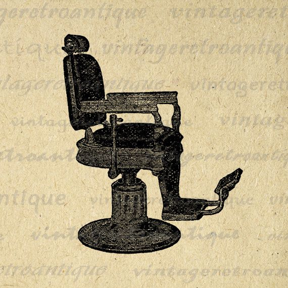 Vintage barber chair clipart picture black and white Digital Graphic Antique Barbers Chair Printable Download ... picture black and white