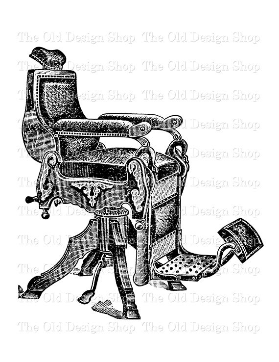 Vintage barber clipart picture stock Antique Barber Chair Vintage Clip Art Illustration Digital ... picture stock