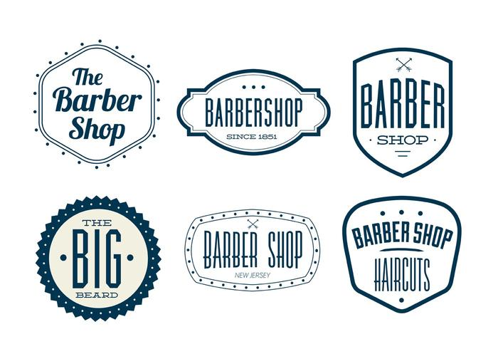 Vintage barber clipart clipart royalty free download Vintage Barber Shop Labels - Download Free Vectors, Clipart ... clipart royalty free download