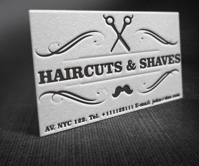 Vintage barber clipart picture black and white Free Vintage Barber Shop Business Card Clipart and Vector ... picture black and white