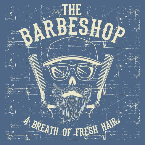 Vintage barber clipart clipart royalty free stock Skull Vintage Barber Shop Logo Design Template Vector ... clipart royalty free stock