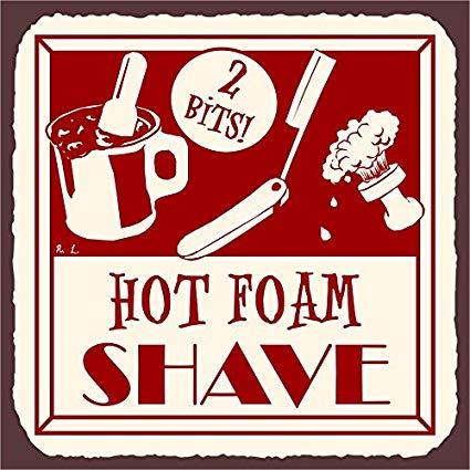 Vintage barber shop clipart picture Amazon.com: Hot Foam Shave Vintage Barber Shop Retro Tin ... picture