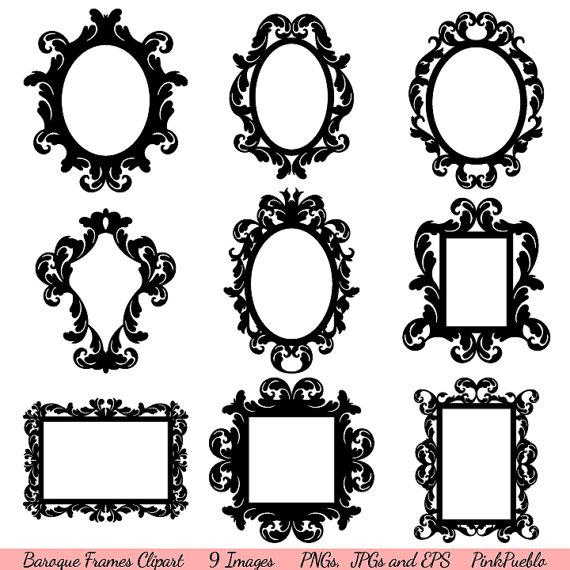 Fb frame clipart png freeuse Baroque Frames Clipart Clip Art, Vintage Frames Borders ... png freeuse