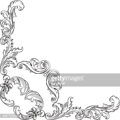Vintage baroque clipart banner library download Vintage Baroque Corner Element premium clipart - ClipartLogo.com banner library download