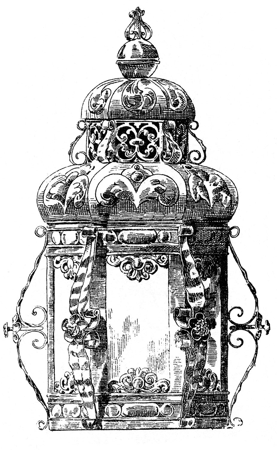 Vintage baroque clipart banner free library Vintage Clip Art - Gothic Baroque Candle Holders - The ... banner free library