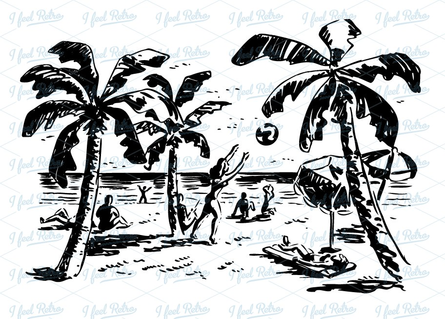 Vintage beach clipart svg free Vintage Beach Cliparts 1 - 912 X 653 - Making-The-Web.com svg free