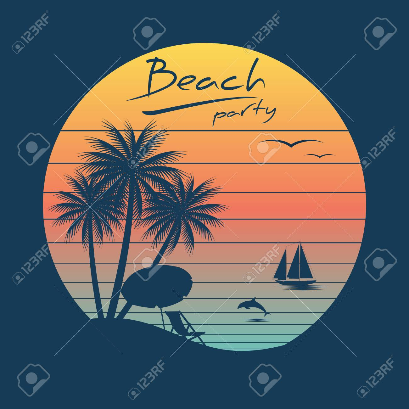 Vintage beach clipart graphic royalty free stock Vintage Beach Cliparts - Making-The-Web.com graphic royalty free stock