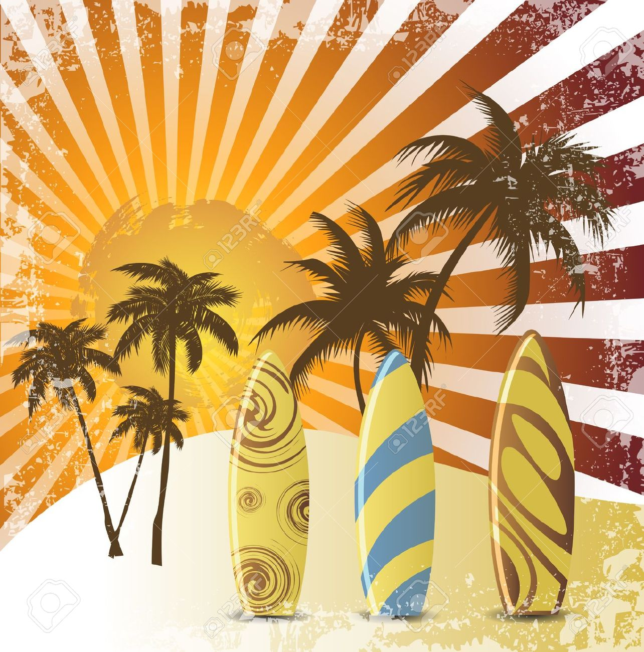 Vintage beach clipart vector transparent Free Vintage Beach Cliparts, Download Free Clip Art, Free ... vector transparent