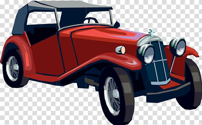 Vintage beach racing car clipart png download Red and black car illustration, Vintage car Classic car ... png download