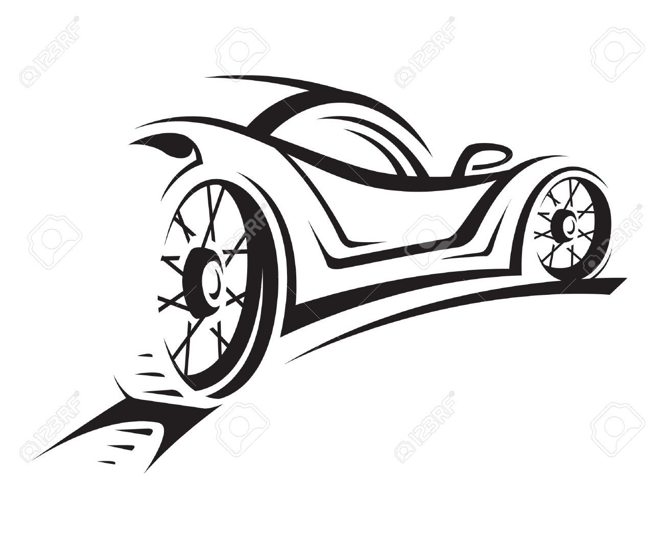Vintage beach racing car clipart picture library download Race car silhouette clipart - ClipartFest | Casino | Car ... picture library download