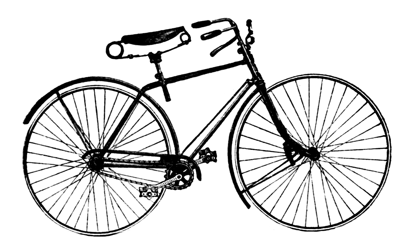 Vintage bike clipart png black and white library Free Vintage Bicycle Cliparts, Download Free Clip Art, Free ... png black and white library