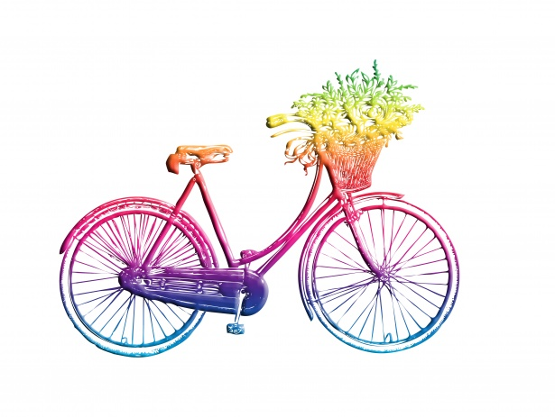 Vintage bike clipart clip art library Vintage Bicycle Colorful Clipart Free Stock Photo - Public ... clip art library