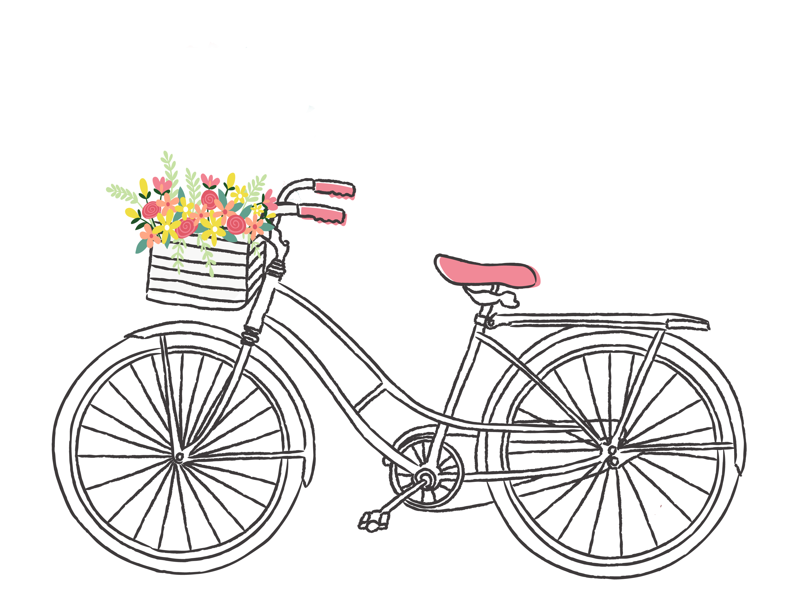 Vintage bike clipart svg royalty free library Free Romantic Bicycle Clip Art | Bike clip art | Bicycle ... svg royalty free library